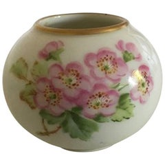 Royal Copenhagen Miniature Vase with Roses in over Glaze
