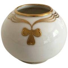 Royal Copenhagen Vase #142/42A with Gold Motif