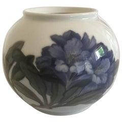 Royal Copenhagen Vase #845/42B with Blue Rhododendron Motif