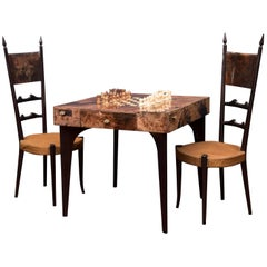 Aldo Tura Games Table and Chairs