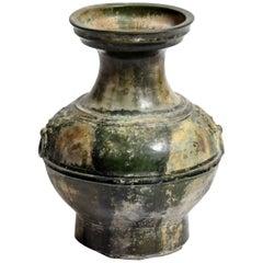 "Han Dynasty Green Glazed ""Hu"" Vessel"