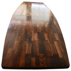 Guaruja Dining Table Rosewood Two Oval Concrete Bases