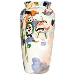 Contemporary Ceramic Colorful Vase Majolica Pottery Handmade
