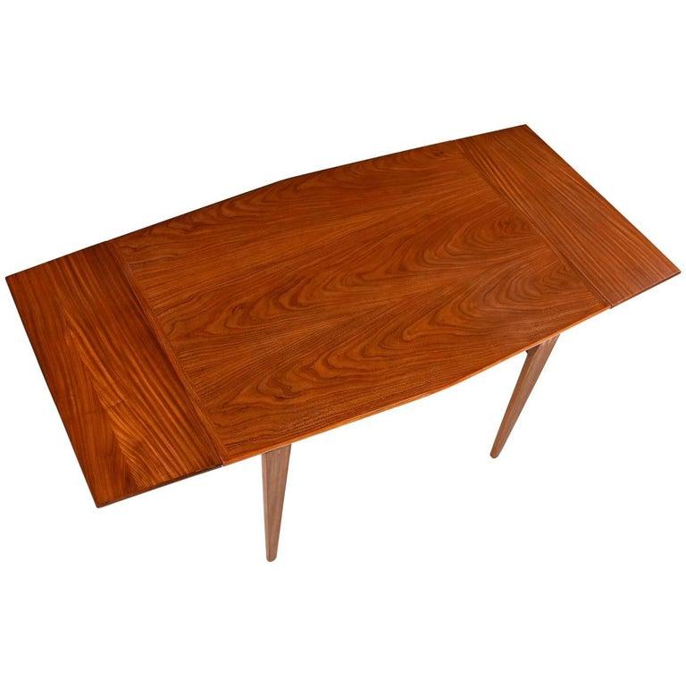 Danish Modern Style Removable Leaf Walnut Dining Table, Circa 1950's