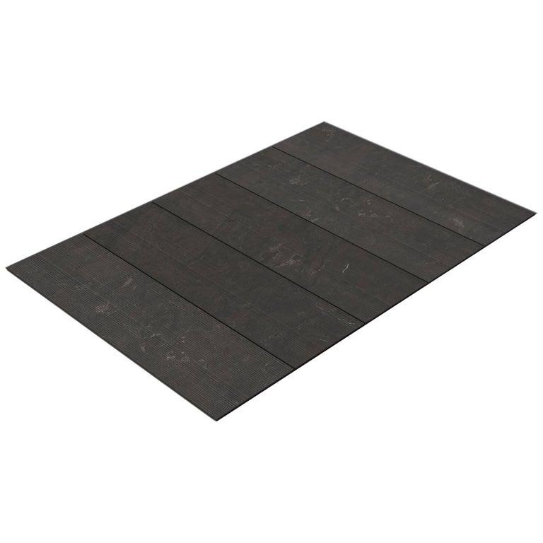 Salvatori Filo Flush 5 / 100 Shower Tray in Bamboo Texture Pietra d'Avola Stone For Sale