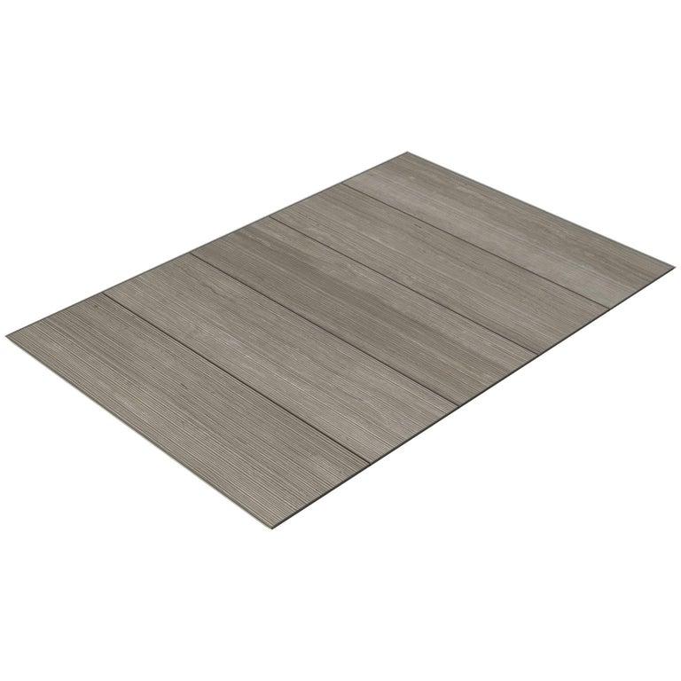 Salvatori Filo Flush 5 / 100 Shower Tray in Bamboo Texture Silk Georgette® Stone For Sale