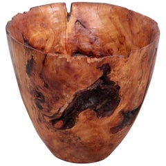 Huge Turned Elmwood Bowl by Woodworker Eckart Mohlenbeck in Apple Wood