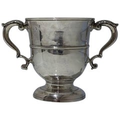 George II Antique Sterling Silver Two Handled Cup London 1745 Richard Gosling