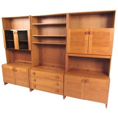 Scandinavian Modern Teak Wall Unit