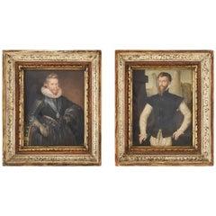 Pair of Robert William Satchwell 'British, Active 1793-1818', Portraits