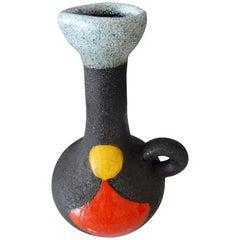 Gilbert Valentin Mid-Century Modern French Vase or Vallauris