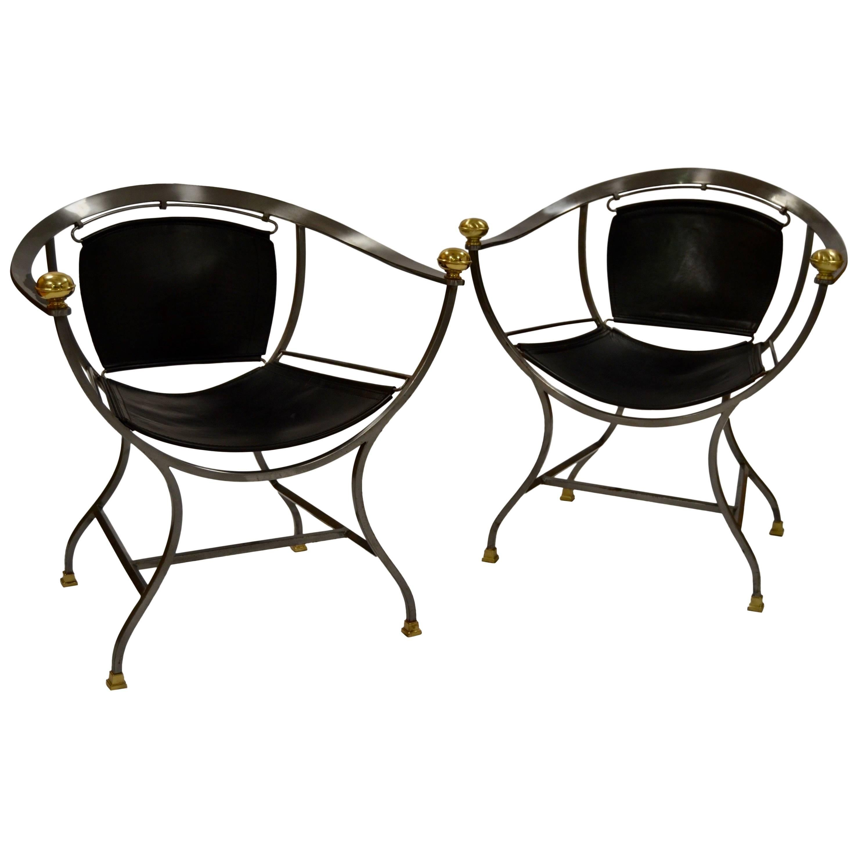 Two Armchairs 1970s Italian Designer Alberto Orlandi