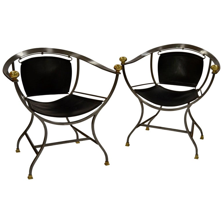 Two Armchairs 1970s Italian Designer Alberto Orlandi For Sale