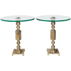 Pair of Art Deco Style Side Tables. Circa 1980's