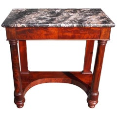 American Classsical Mahogany and Marble-Top Console, Balt, MD, circa 1820