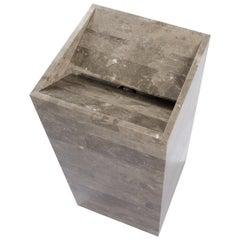 Salvatori Vasco 40 Freestanding Basin in Recycled Gris du Marais Marble