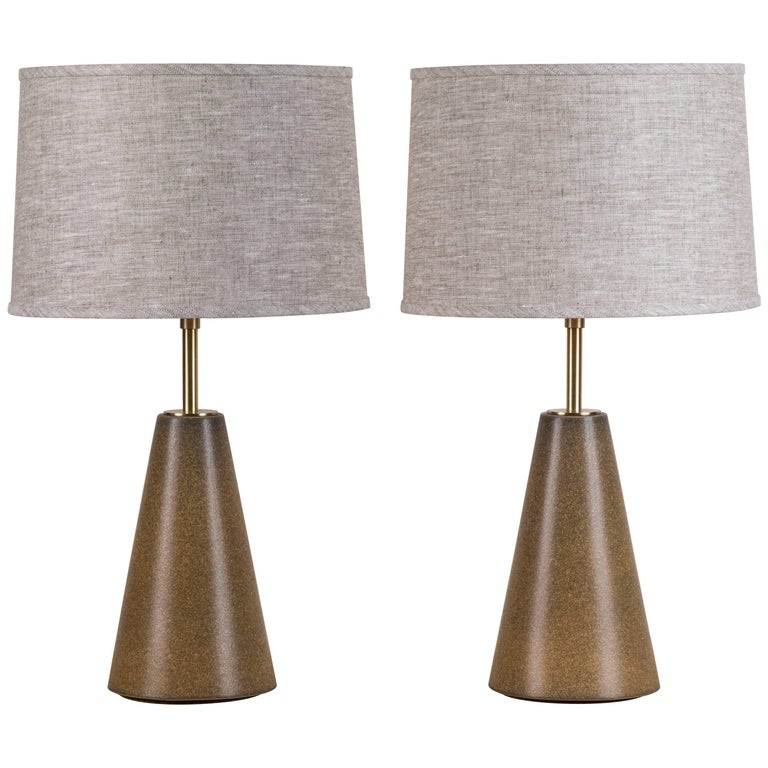 Pair of Geo Lamps by Stone and Sawyer for Lawson-Fenning For Sale