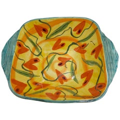 Marilee Hall Pottery Bowl of Whimsical Hearts