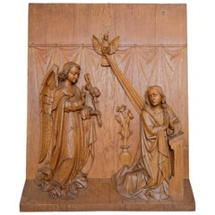 Religious Carving the Annunciation