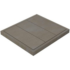Salvatori Filo Raised 3 / 88 Shower Tray in Sandblasted Piombo Stone