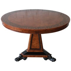Baker Furniture Stately Homes Collection Burl Ash Regency Centre Table