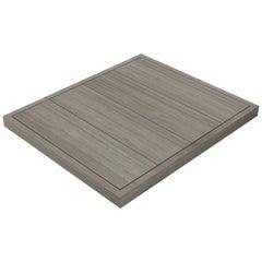 Salvatori Filo Raised 4 / 108 Shower Tray in Raw Texture Silk Georgette Stone