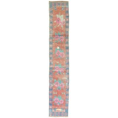 Dated Turkish Shabby Chic Floral Narrow Runner