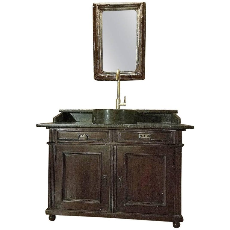 Antique French Bathroom Sink And Mirror For Sale At 1stdibs