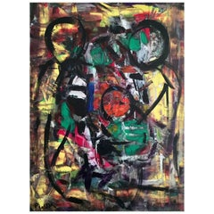 'New Bike' Acrylic on Canvas Abstract Painting Andrew Plum