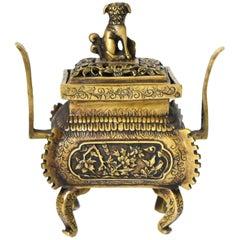 Brass Incense Burner with Foo Dog