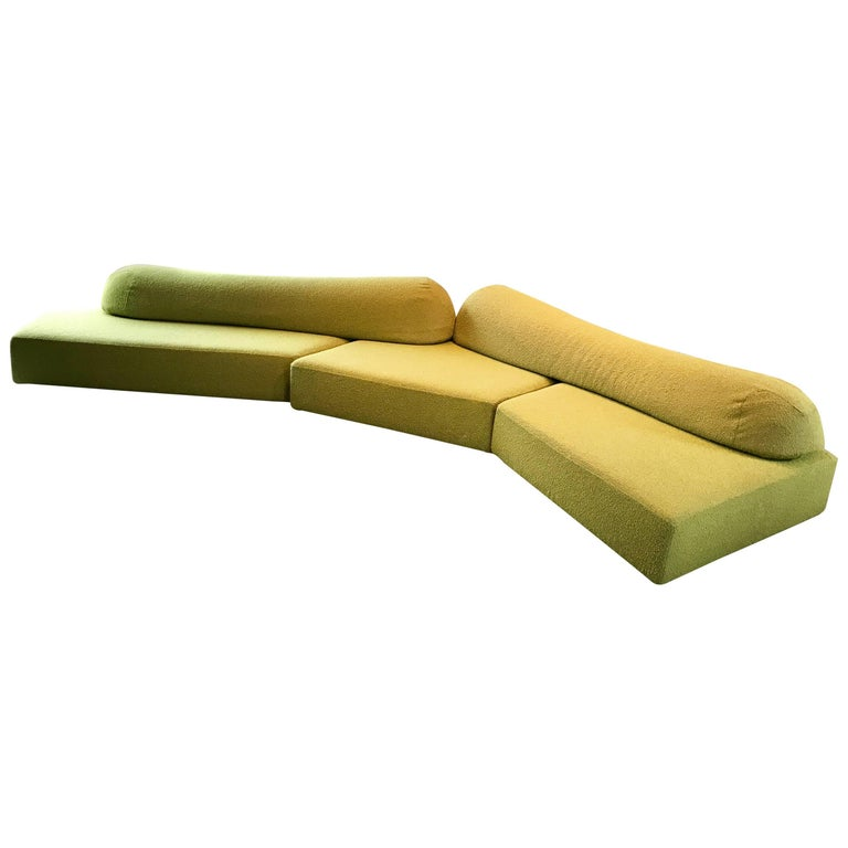 "Modular Green Sectional Sofa ""On The Rocks"" by Francesco Binfare for Edra, Italy"