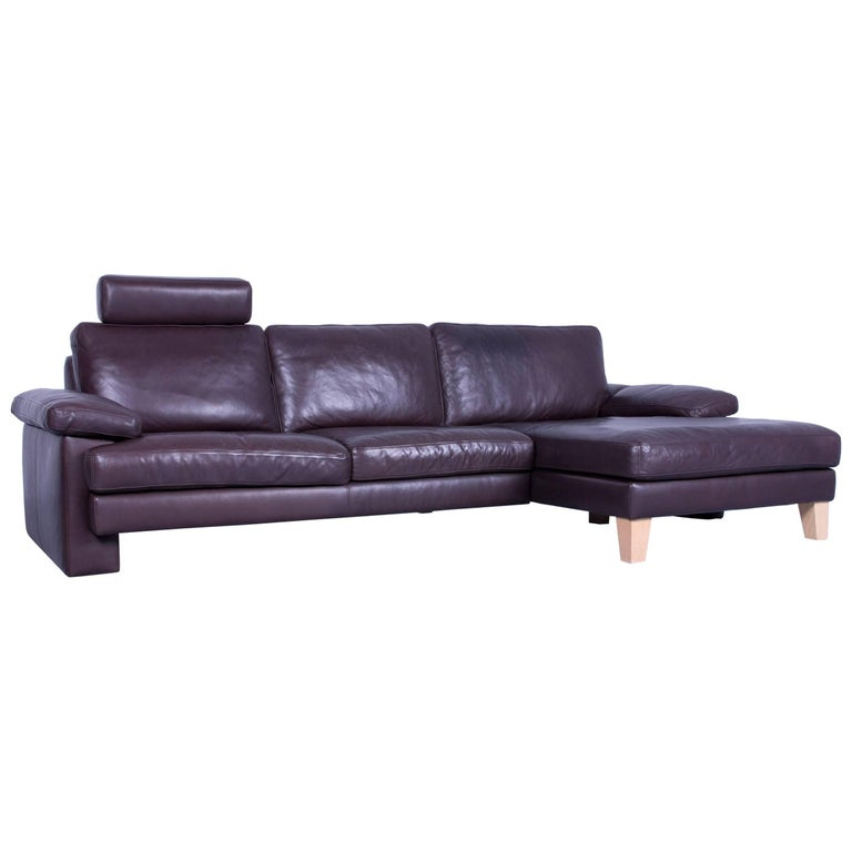 machalke corner sofa mocca brown leather modern designer. Black Bedroom Furniture Sets. Home Design Ideas