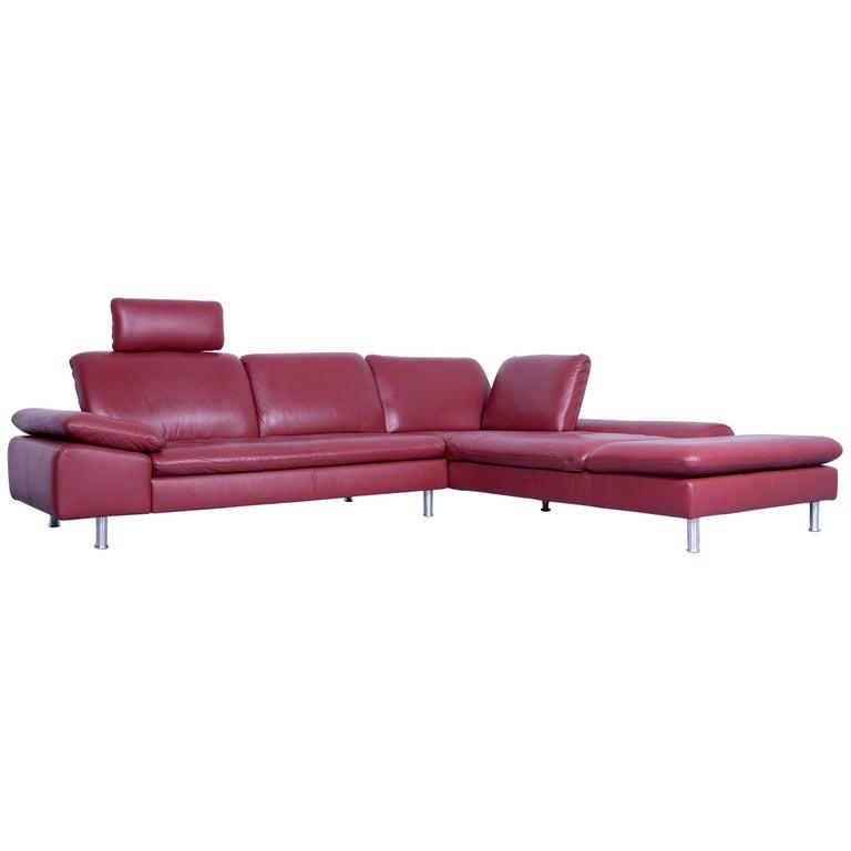 willi schillig loop designer corner sofa leather red. Black Bedroom Furniture Sets. Home Design Ideas