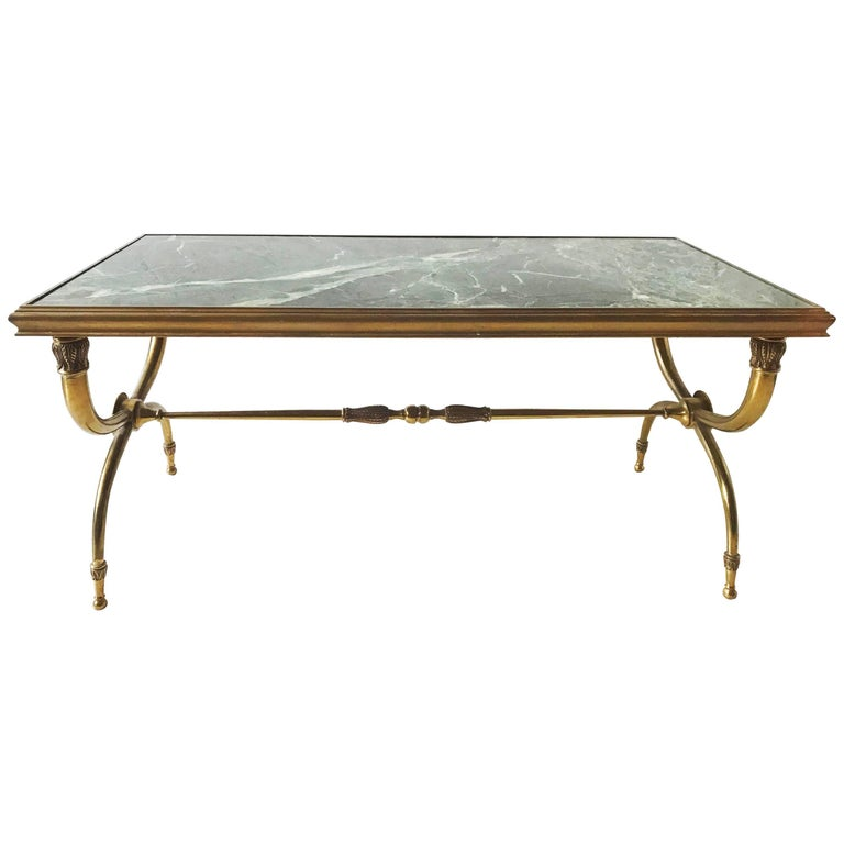 Marble Coffee Table Heavy: 1940s Coffee Table Attributed To Raymond Subes For Sale At