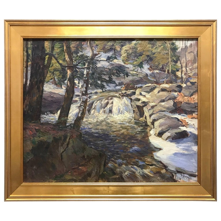 New England Oil Painting by Frederick Sexton Signed  For Sale