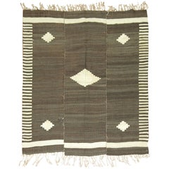 Paneled Turkish Kilim Decorative Rug