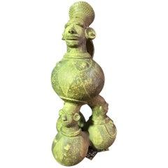 Large Figurative African 'Mangbetu' Anthropomorphic Vessel or Jar