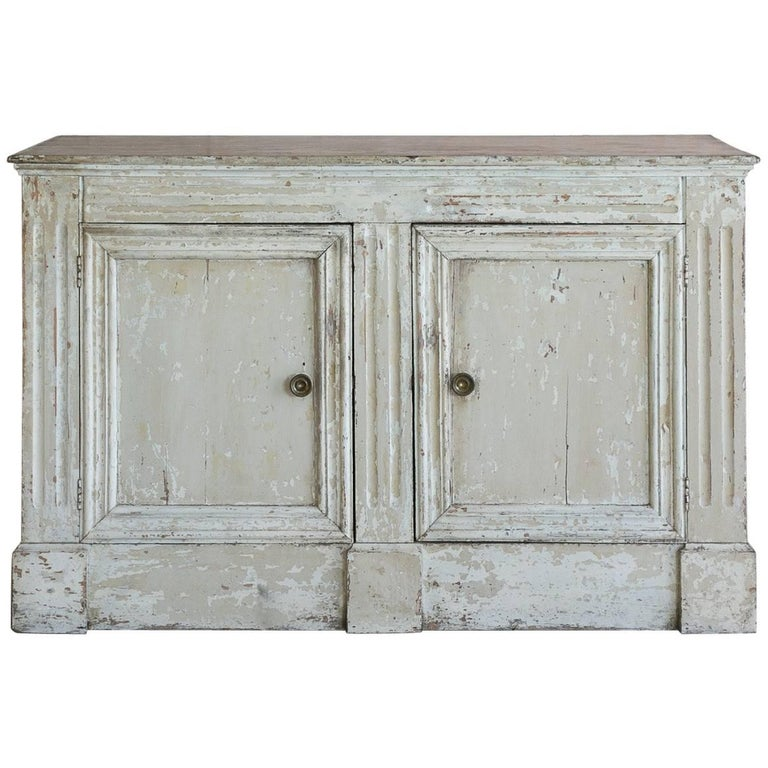 stunning antique white wash furniture | White Washed Antique Sideboard: 1890 For Sale at 1stdibs