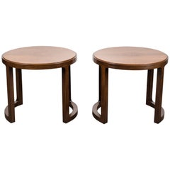 Pair of Rosewood and Mahogany Side Table by Edward Wormley for Dunbar