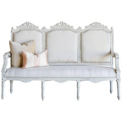 White-Washed Vintage Sofa: 1940