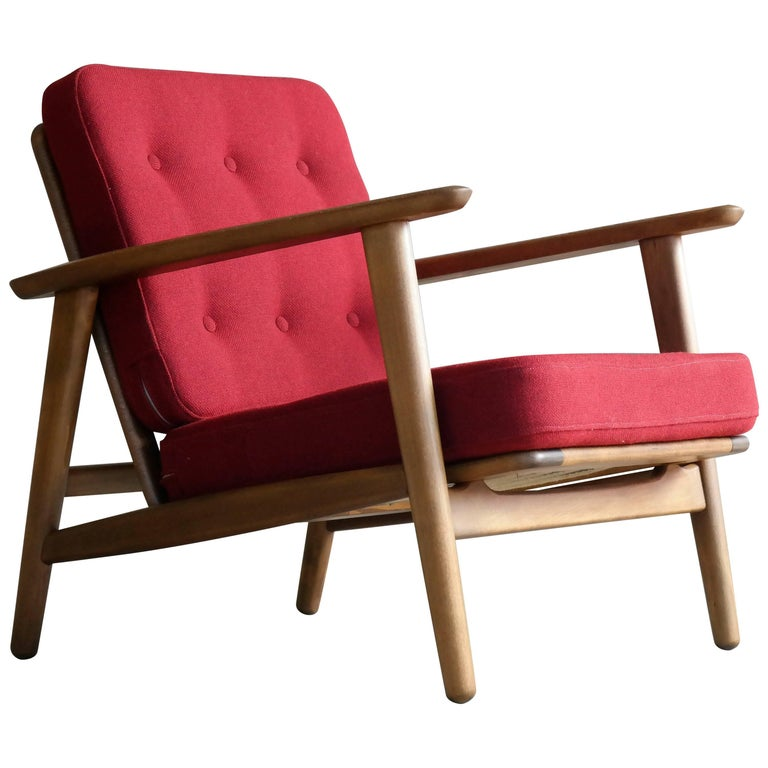 Hans Wegner Easy Chair Model GE-233 for GETAMA, Denmark Midcentury
