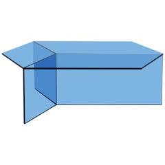 Isom Oblong Blue Side Table by Sebastian Scherer for Neo Craft, Made in Germany