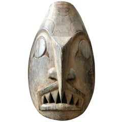 "Pacific Northwest Coast ""Haida"" Carved Dogfish Mask"