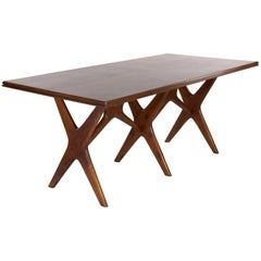 20th Century Italian Wood Dining Table in the Manner of Ico Parisi