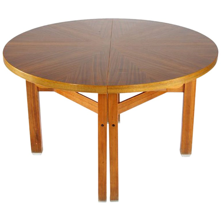 Ico Parisi Wooden Dining Table, Italy, 1960s