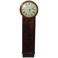 English George IV Figured Mahogany Norfolk Timepiece Wall Clock
