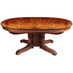 Charles X Solid Mahogany Extending French Dining Table