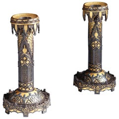 Toledo Candlesticks by Teodoro Ybarzabal, Eibar