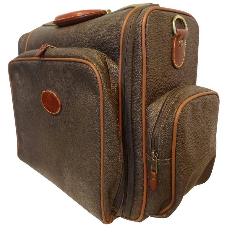 Vintage Mulberry traveling case in Mole Scotchgrain Cognac Coloured