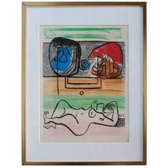 """Unité, Planche 11"" Original Signed Etching and Aquatint by Le Corbusier"